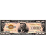 100,000 Dollar Bill Bookmark - $2.80