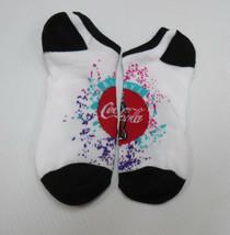 Coca-Cola No Show Ladies Socks Shoe Size 4-10 Always Coca-Cola Disc Logo - $2.23