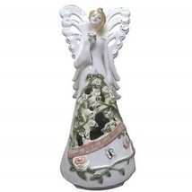 9 Inch Revolving Forever Rose Angel Figurine to Tune Ava Maria - $29.69