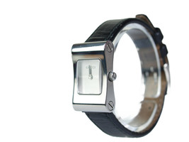 Auth GUCCI 2300L Silver Dial Black Leather Band Watch GW2213L - $224.25 CAD