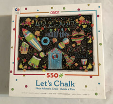 """Chalkboard Jigsaw Puzzle Lets Chalk 550 Pieces 24"""" X 18"""" Made In USA. Ce... - $9.74"""