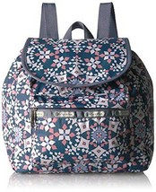 LeSportsac Women's Classic Small Edie Backpack, Beach Tiles - $78.25