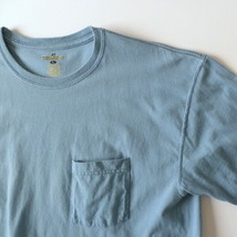 Russell Athletic Mens Basic T-Shirt L Large Light Blue with Chest Pocket - $13.08