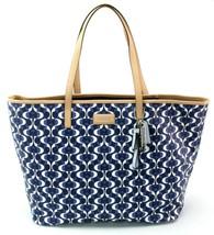 Coach Monogrammed Shopper Tote Bag PVC Large Handbag Navy & Tan RRP £330 - $392.60 CAD