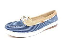 Keds Glimmer Nautical Stripe Ortholite Boat Shoe Navy Blue White Women S... - $23.96
