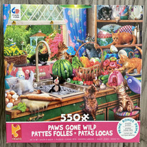 Paws Gone Wild 550 Piece Puzzle Ceaco Cats Playful Kitchen Kittens Large Pieces - $13.10