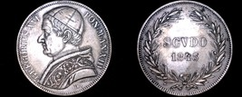 1843-XIIIR Italian States Papal States 1 Scudo World Silver Coin - Grego... - $299.99