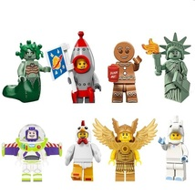 8pcs Unicorn Girl Rocket Boy Gingerbread Man Chicken Suit Fit Lego Set C... - $13.50