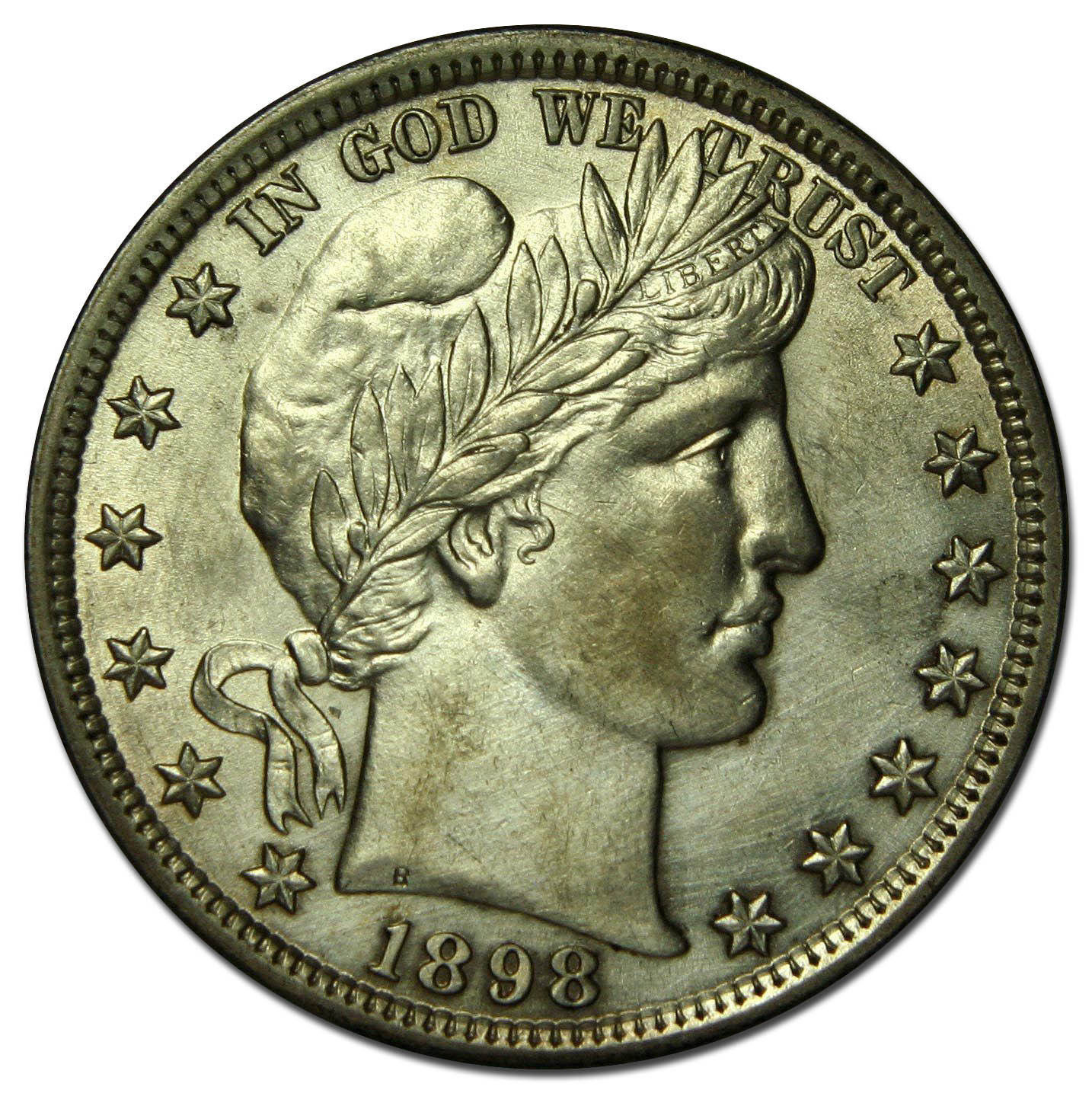 1898 Liberty Barber Head Half Dollar 50¢ Silver Coin Lot MZ 2614