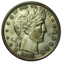 1898 Liberty Barber Head Half Dollar 50¢ Silver Coin Lot MZ 2614