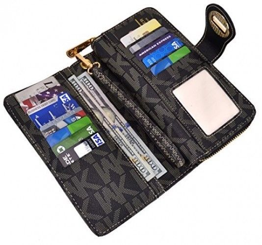 MKP Collection Card Case Wallets, Zip Around And Twist Lock Wallet. Wallet For