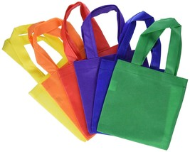 Fun Express Poly Non-Woven Party Tote Bags - 6 Inches - 12 Piece Pack - $8.25