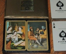 NEW 2 decks Piatnik Vienna Playing Cards Kingsbridge Pictorial Art Paint ID: 235 - $44.99