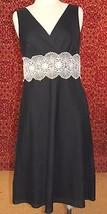ANN TAYLOR LOFT black cotton sleeveless dress 10 (TF-03G7G) - $19.79