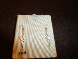 Disney Tinkerbell sterling silver dangle earing boxed jewelry - $19.99