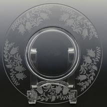 Tiffin Fuchsia Elegant Glass Plate Luncheon Plates a set of 8 image 6