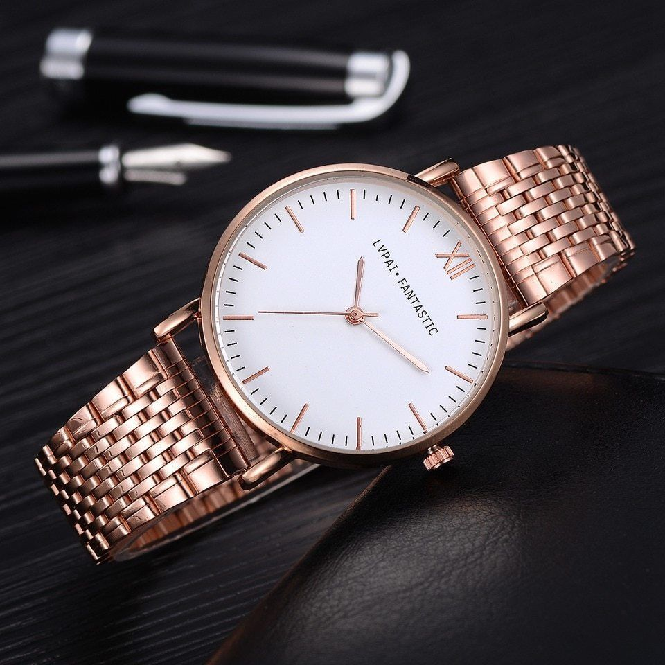Lvpai® Luxury Watch Rose Gold Classic Stainless Steel Dress Quartz Alloy