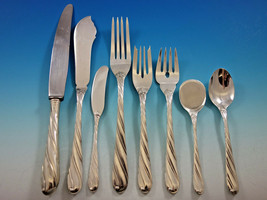Torchon by Buccellati Italy Sterling Silver Dinner Flatware Set Service 84 pcs - $17,795.00