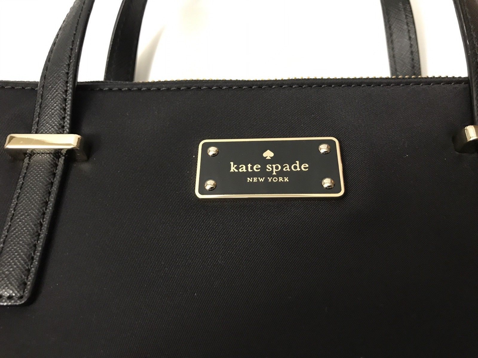 202860df4d ... NWT Kate Spade Wilson Road Alyse Shoulder HandBag Black Nylon Crosbody  WKRU4715 ...