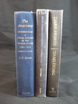 Book Stack Blue Black Lot of 3 Farmhouse Shabby Cottage Decor - $12.82