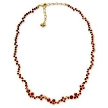 AUTHENTIC SWAN SIGNED SWAROVSKI FIDELITY SIAM RED COLLAR NECKLACE 1043124 - $149.00