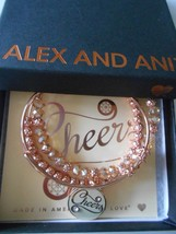 Alex And Ani Cheers Set Of 3 Bracelets Champagne Color Infusion Shiny Rose Nwtbc - $69.29