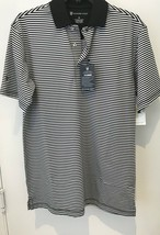 Oxford Golf Super Dry Cool Max Mens XS Black Striped Short Sleeve Polo S... - $18.46