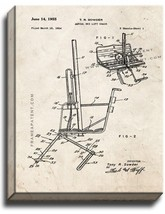 Aerial Ski Lift Chair Patent Print Old Look on Canvas - $39.95+