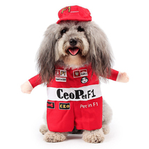NACOCO Pet Costume Dog Racing Driver Role Play Suit With a Hat  - £11.55 GBP