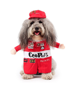 NACOCO Pet Costume Dog Racing Driver Role Play Suit With a Hat  - $14.98
