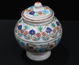 Marble Inlay Flower Pot Flower Vase for Home and Office Decor,Fairy Gard... - $1,550.00