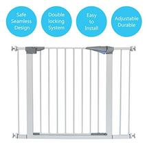 LEMKA Walk Thru Baby Gate, 31-41 inch Auto-Close Safety Pet Gate Metal Expandabl image 3