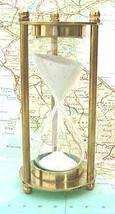 4 inch Brass Sandtimer Hourglass - $24.99