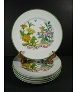 """SET of 5 ROYAL WORCESTER Marigold Spearmint COUNTRY KITCHEN SALAD PLATES 8"""" - $28.80"""