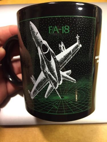 Primary image for Vintage FA-18 Hornet Coffee Mug Cup McDonnell Douglas Black