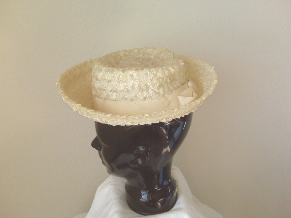 Straw Weave Hat w/turned up brim
