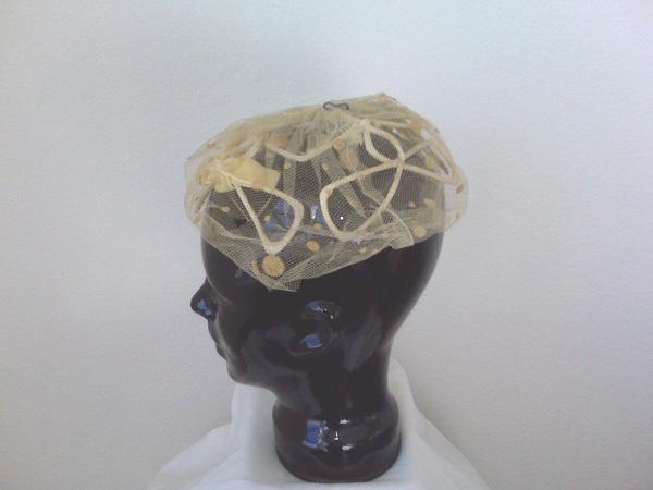 Yellow Velvet Cap of Netting