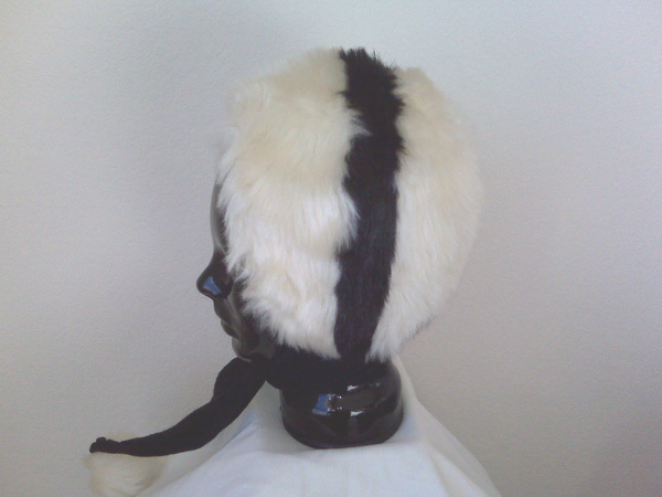 Ladies Fake Fur Scarf Hat With Pom Poms