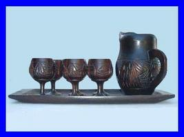 Miniature teakwood tea set 1 thumb200