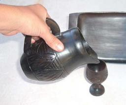 Miniature teakwood tea set 6 thumb200