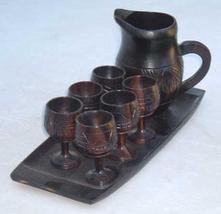 Miniature teakwood tea set 3 thumb200