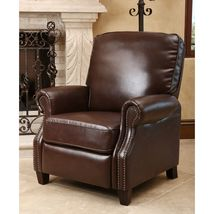 Braxton Leather Pushback Recliner - $399.95