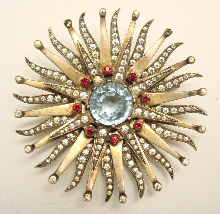 FANTASTIC RETRO STERLING STAR BRUST PIN