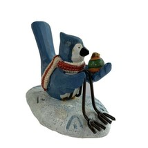 Russ Berrie Merrily We Tweet Along #13259 Blue Jay Christmas Ornament - $18.90
