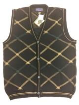Jantzen Classics Bold Button Down Mens Knit Sweater Vest 100% Acrylic 44... - $29.65