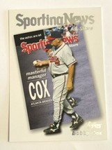 2004 Topps #728 Bobby Cox Atlanta Braves Sporting News MLB Baseball Card - $0.99