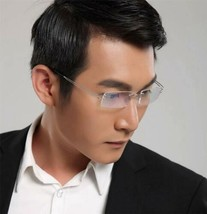 Mens Rimless Titanium Eyeglass Frames  Flexible Hingeless Rx-able Spectacles New - $36.96