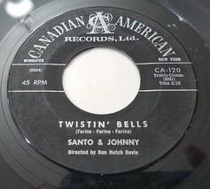 Santo & Johnny Twistin' Bells / Bullseye 45 Early Rock Instrumental Viny... - $6.88