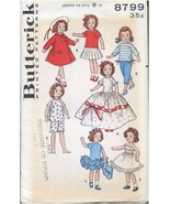 "Butterick 8799 Little Girl Doll Clothes Sewing Pattern 8""  UNCUT Movie Star - $17.99"
