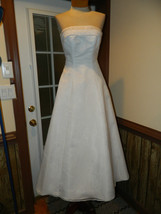 David's Bridal size 4 White Wedding Prom Pageant dress, Preloved Excellent - $129.99